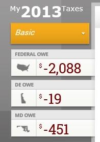 taxes owed